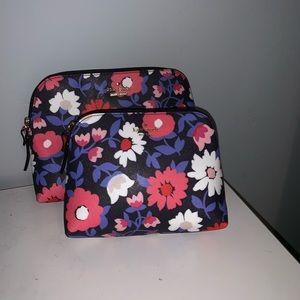 Kate Spade floral briley makeup case set